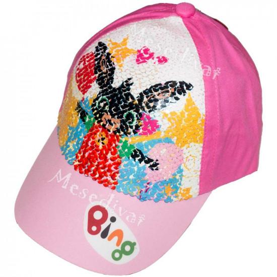 Bing nyuszis flitteres baseball sapka rózsazsín