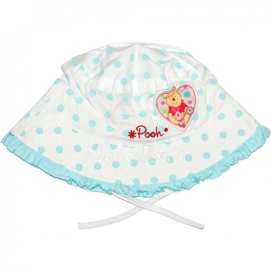 Micimackós baba kalap fehér