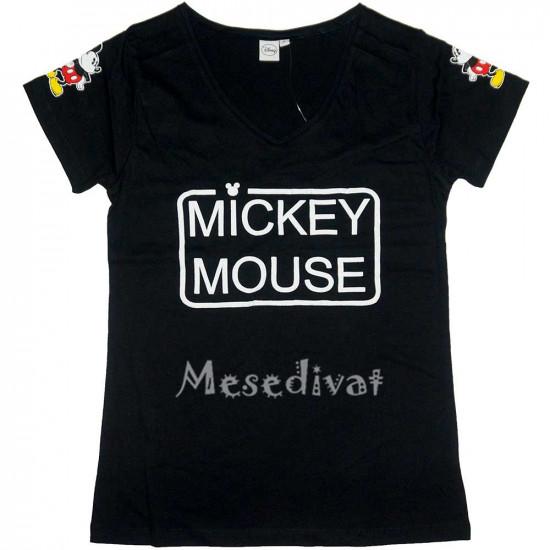 Mickey Mouse felnőtt női póló fekete