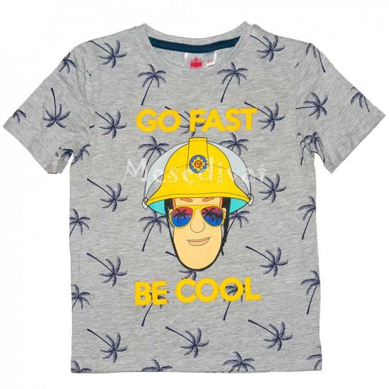 Sam a tűzoltó póló szürke 98-116