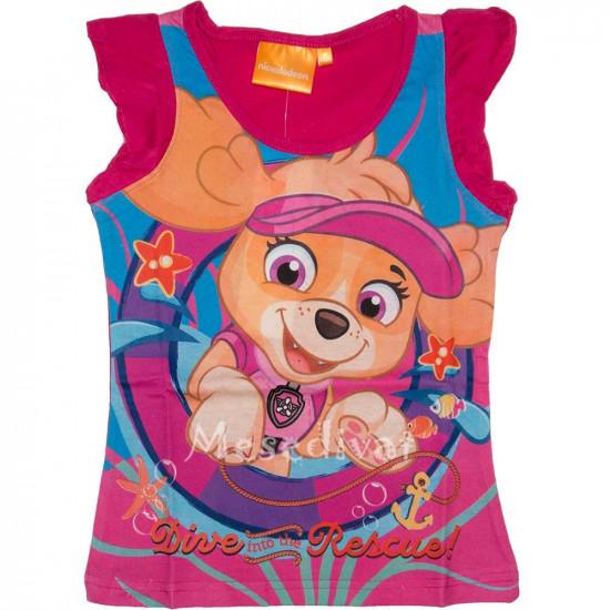 Mancs Őrjárat trikó kislányoknak pink