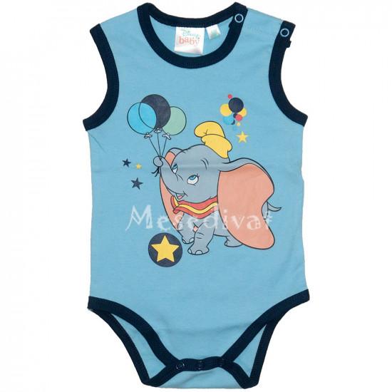 Dumbós bébi ujjatlan body kék