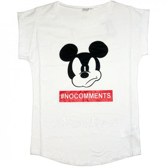 Mickey Egér felnőtt női póló fehér