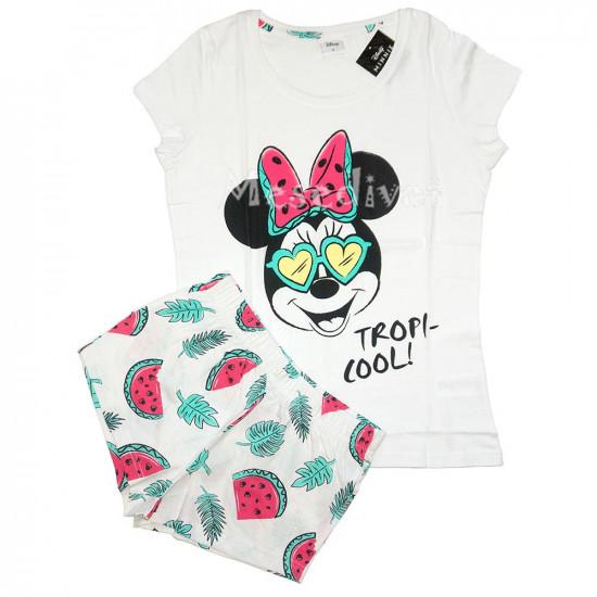 Minnie Mouse felnőtt nyári pizsama fehér