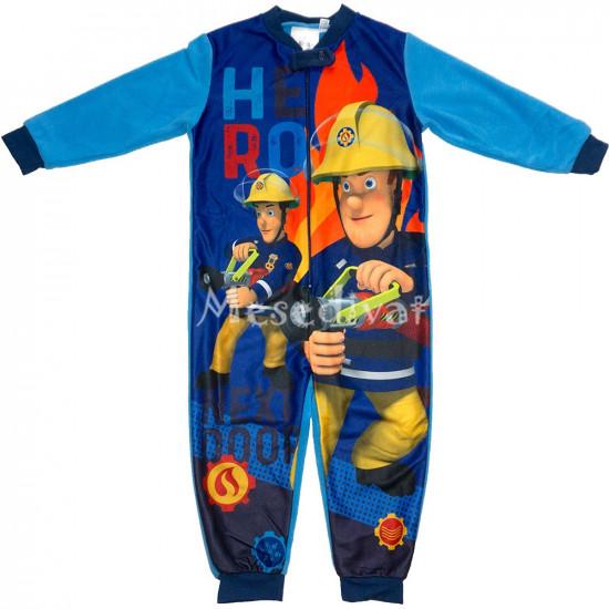 Sam a tűzoltó kezeslábas pizsama kisfiúknak