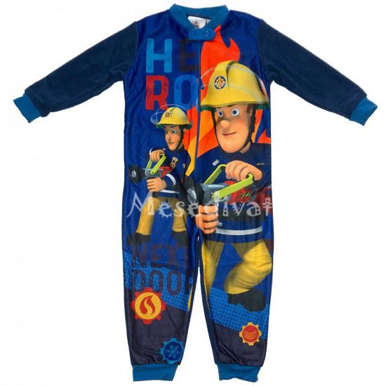 Sam a tűzoltó polár pizsama overál sötétkék