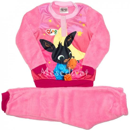 Bing nyuszi polár pizsama rózsaszín