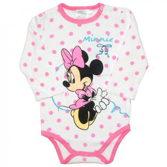 Minnie Mouse hosszúujjú body pöttyös