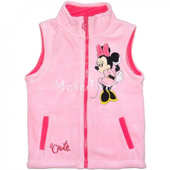 Minnie Egeres polár mellény rózsaszín