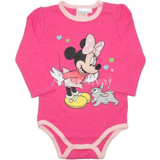 Minnie Mouse hosszú ujjú kombidressz pink