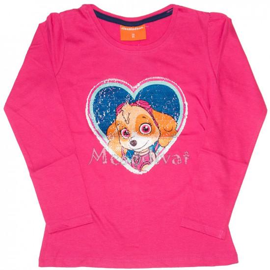 Mancs Őrjárat simogatós hosszúujjú póló pink