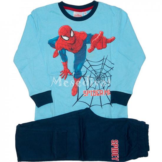 Pókember pamut pizsama világoskék sötétkék