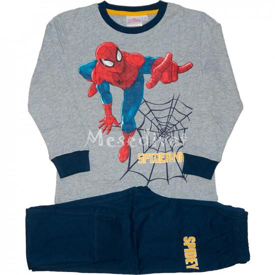 Pókemberes pizsama szürke sötétkék