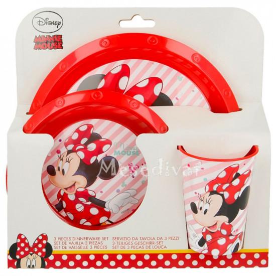 Minnie egeres műanyag étkészlet