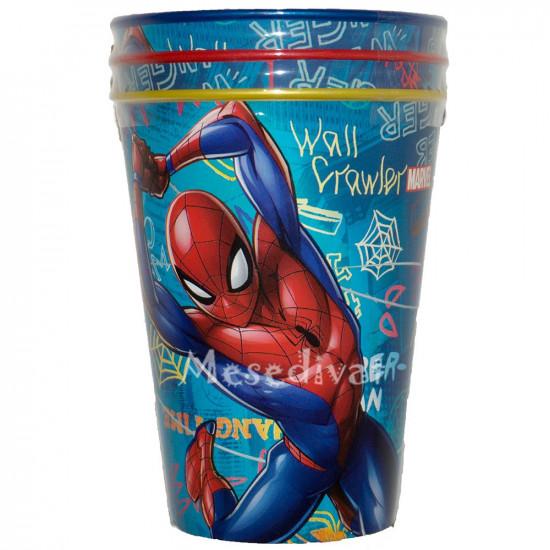 Pókemberes műanyag pohár szett
