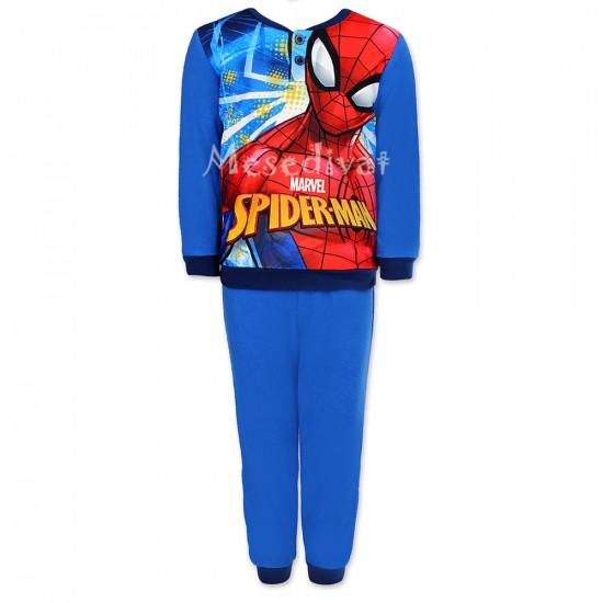 Pókemberes polár pizsama kék