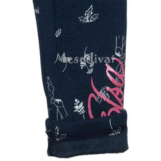 Jégvarázsos vastag téli leggings sötétkék