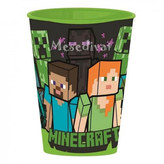 Minecraft műanyag pohár