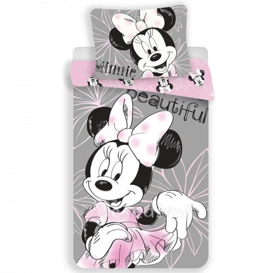 Minnie Mouse ágyneműhuzat szürke rózsaszín