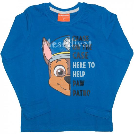 Mancs Őrjárat hosszúujjú póló kék Chase