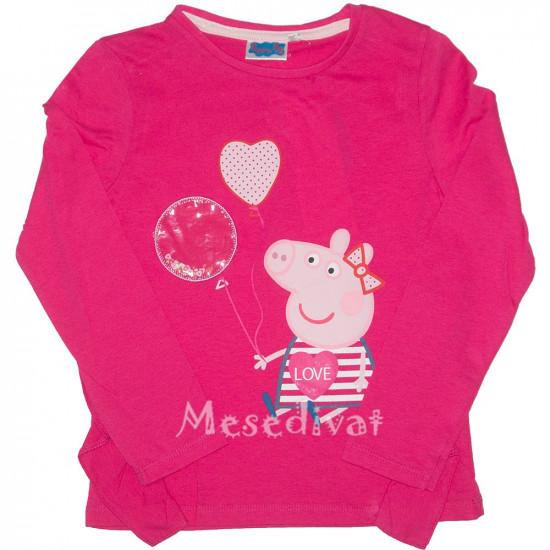 Peppa Malac hosszúujjas póló pink