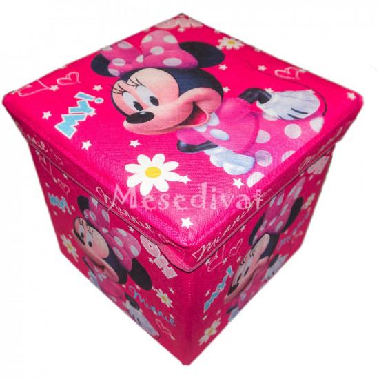 Minnie Egeres tárolódoboz ülőke pink