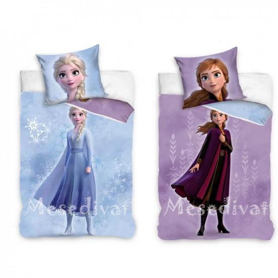 Jégvarázsos ágyneműhuzat garnitúra Elsa és Anna