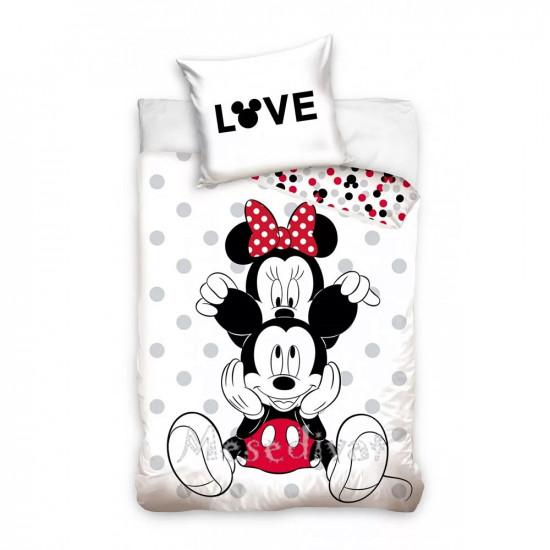Mickey és Minnie Egeres ágyneműhuzat Love