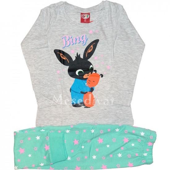 Bing nyuszis kislány pamut pizsama Floppal