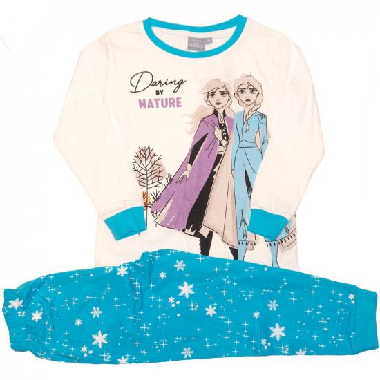 Jégvarázs Frozen pamut pizsama fehér kék