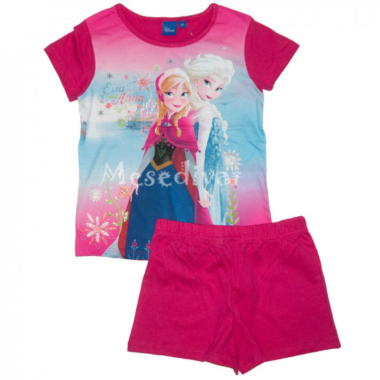 Jégvarázsos nyári pizsama együttes pink
