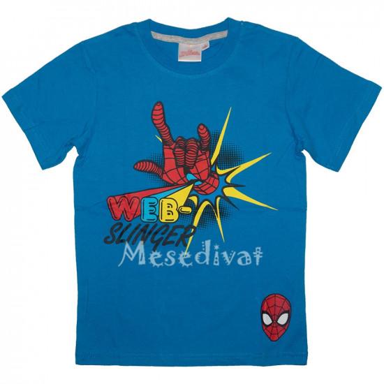 Pókemberes póló kék színben 98-128