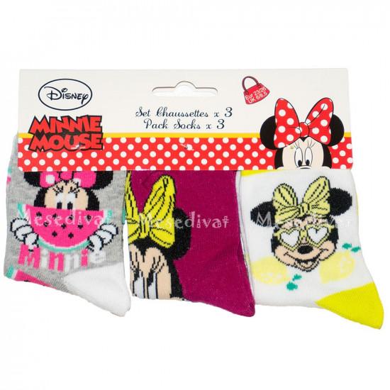 Minnie Mouse zokni szett 3 pár