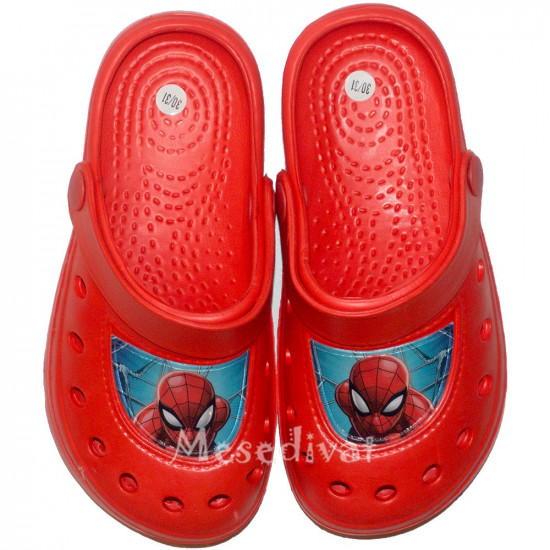 Pókemberes papucs piros