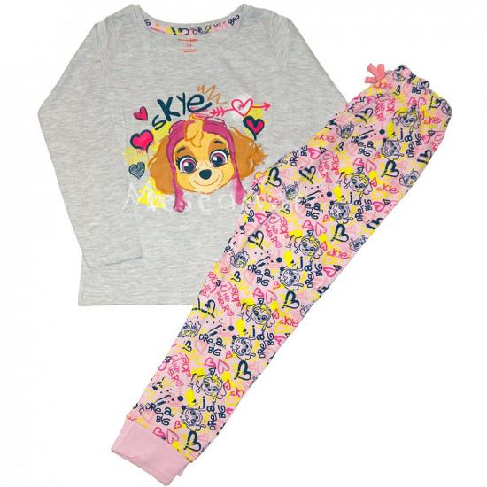 Mancs Őrjárat kislány pizsama szürke 98-128