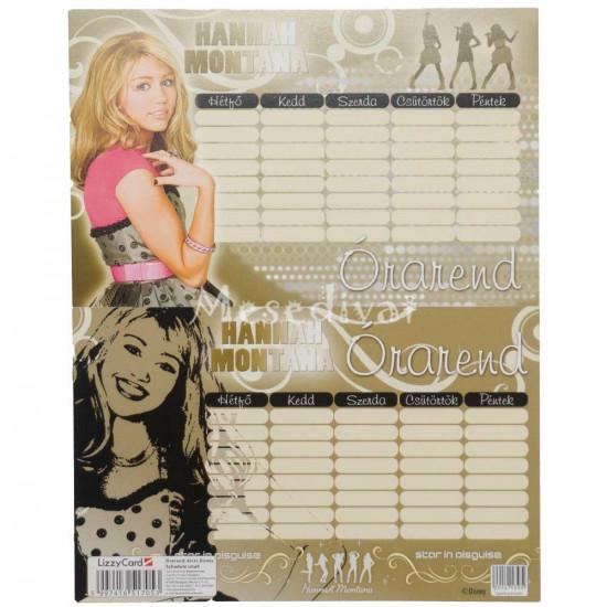 Hannah Montana órarend arany