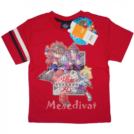 Bakugan pamut rövidujjú póló piros