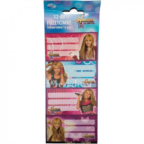 Hannah Montana füzetcímke
