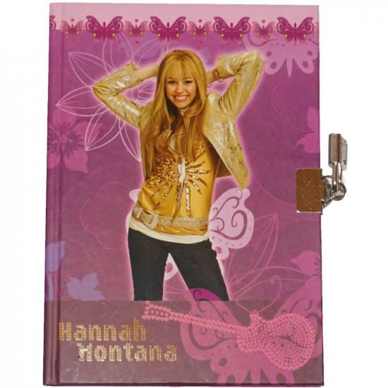 Hannah Montana emlékkönyv lakattal lila