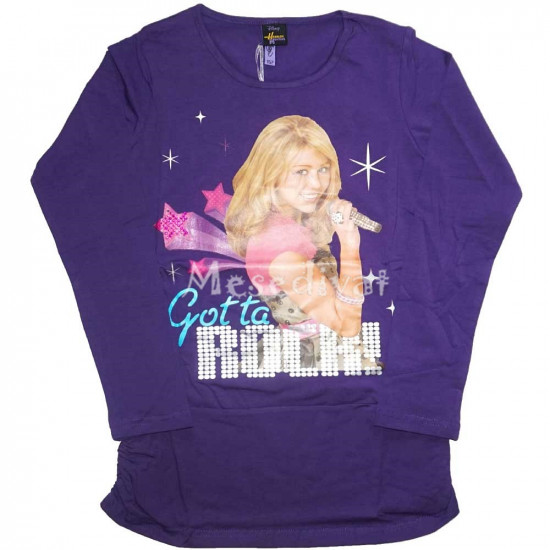 Hannah Montana tunika fazonú hosszúujjú felső lila