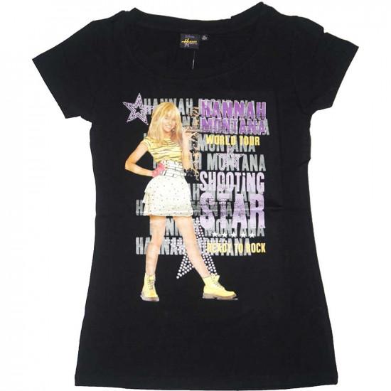 Hannah Montana rövidujjú póló fekete