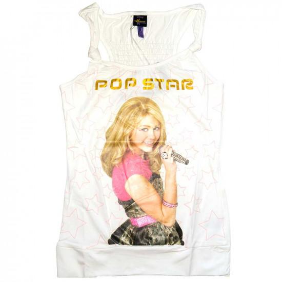 Hannah Montana ujjatlan felső, fehér